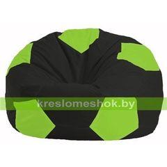 Бескаркасное кресло Бескаркасное кресло Kreslomeshok.by Мяч М 1.1-466 чёрный - салатовый