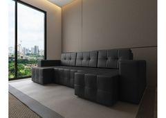 Диван Диван Настоящая мебель Константин Питсбург П-образный черный