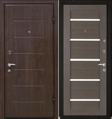 Входная дверь Входная дверь МеталЮр М7 (грей мелинга, белое стекло)