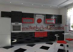 Кухня Кухня Алфексгрупп №17 (Крашенный МДФ)
