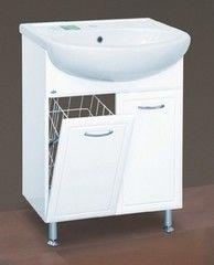 Мебель для ванной комнаты MISTY Тумба с раковиной Гретта 60 (с корзиной)