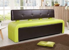 Кухонный уголок, диван ДвериДом Кухонный диван Оскар-2 (черный-лайм)