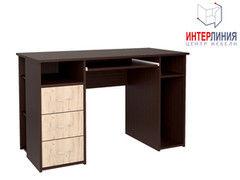 Письменный стол Интерлиния СК-010 Дуб венге+Дуб серый