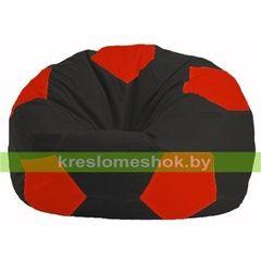 Бескаркасное кресло Бескаркасное кресло Kreslomeshok.by Мяч М 1.1-467 чёрный - красный