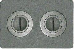 Комплектующие для печей и каминов Рубцовский литейный комплекс ЛДВ Плита с двумя отверстиями для конфорок П2-7