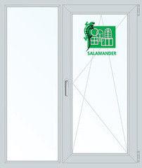 Окно ПВХ Окно ПВХ Salamander Пластиковое окно 1140*1410 2К-СП, 5К-П, Г+П/О