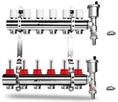 Комплектующие для систем водоснабжения и отопления Idrosanitaria Bonomi Коллектор сборный на 4 выхода 37290408