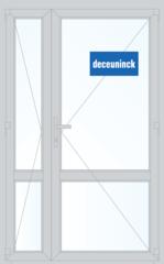 Дверь ПВХ Дверь ПВХ Deceuninck Фаворит Спэйс 1300*2100 2К-СП двустворчатая Модель 9