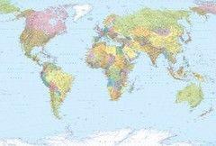Фотообои Фотообои Komar World Map XXL4-038