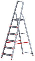 Лестница Новая высота NV 511 1x6 серебристый (5110106)