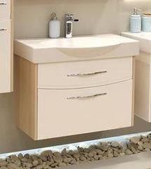Мебель для ванной комнаты Акватон Тумба-умывальник подвесная Инфинити 76 (1A192001IFSC0) ясень коимбра