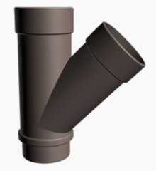 Водосточная система Docke Lux Тройник 45° (шоколад)