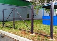 Забор Забор Изомат-Строй Каркас калитки двустворчатой огрунтов. (1,4*3,4)