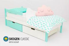 Детская кровать Детская кровать Бельмарко Skogen Classic мятно-белый