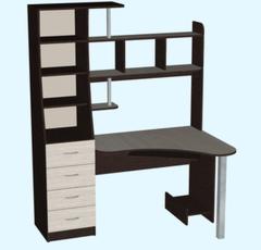 Письменный стол Стол компьютерный Мебель-Класс Символ МК-95 (венге/дуб шамони, левый)