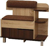 Тумба для обуви Мебель-Класс ВА-012.3 (дуб сонома/дуб шато, левая)