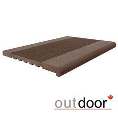 Элементы ограждений и лестниц Outdoor Ступень ДПК 348*23*4000 мм полнотелая коричневая микс