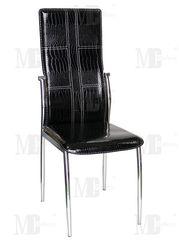Кухонный стул Metsteklo PU-7310 черный крокодил