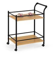Сервировочный столик Сервировочный столик Halmar Bar-12 (дуб натуральный/черный)