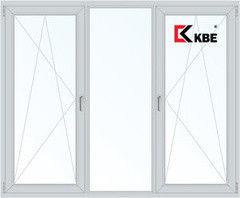 Окно ПВХ Окно ПВХ KBE Эксперт 2100*1400 2К-СП, 5К-П, П/О+Г+П/О