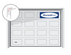 DoorHan RSD01 2500x2500 секционные, филенка, авт.