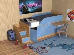 Двухъярусная кровать СлавМебель Кузя-3