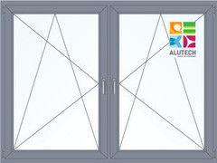 Алюминиевое окно Alutech W62 1460*1400 2К-СП П/О+П/О