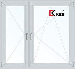 Окно ПВХ Окно ПВХ KBE Эксперт 1460*1400 2К-СП, 5К-П, П+П/О