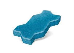 """Резиновая плитка Rubtex Брусчатка """"Волна"""" 220x130 (толщина 40 мм, голубая)"""