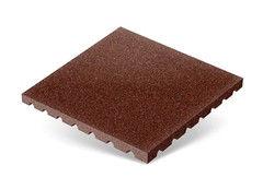 """Резиновая плитка Rubtex Плитка """"Грунт"""" 500x500 (толщина 40 мм, коричневая)"""