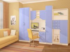 Детская комната Детская комната Регион 058 Юниор МДФ (глянец)