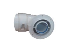 Комплектующие для систем водоснабжения и отопления Conti Коаксиальный угол алюминиевый 60/100