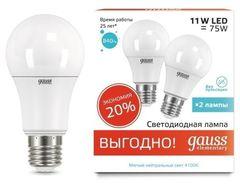 Лампа Лампа Gauss 23221P, E27, A60, 11Вт