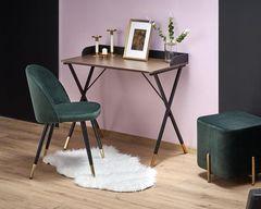 Письменный стол Halmar B37 (дуб натуральный/черный/золотой)