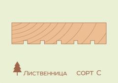 Террасная доска Лиственница 27*143, сорт C (STT 0/3)