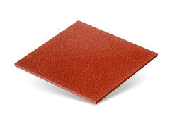 Резиновая плитка Rubtex Плитка 500x500 (толщина 16 мм, красная)