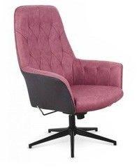 Кресло Halmar Vagner (темно-розовый/черный)