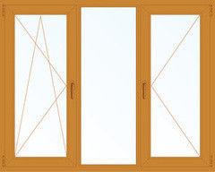 Деревянное окно Лиственница 2060*1420, 1с, П/О+Г+П