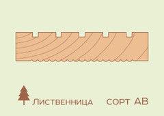 Террасная доска Лиственница 27x142x4000, сорт АВ (4шт)