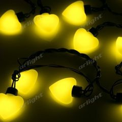 Декоративная светотехника Arlight Гирлянда ARL-HEART-5000-20LED Yellow (220V, 5W)