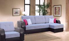 Набор мягкой мебели Набор мягкой мебели Tiolly Арчи (черно-серый)