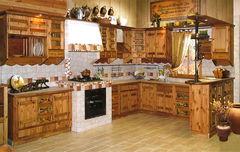 Кухня Кухня Лучший дом Пример 159 старая сосна