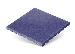 "Резиновая плитка Rubtex Плитка ""Грунт"" 500x500 (толщина 40 мм, синяя)"