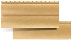 Сайдинг Сайдинг Альта-Профиль Blockhouse Золотистый (малый двухпереломный)