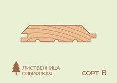 Имитация бруса Имитация бруса Лиственница 20*185*3000, сорт Норма