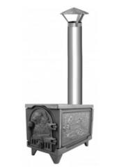 Мангал Рубцовский литейный комплекс ЛДВ Печь-шашлычница дачная крашеная с трубой ПМЧ-1