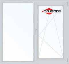Окно ПВХ Окно ПВХ Brusbox 1460*1400 1К-СП, 3К-П, Г+П/О