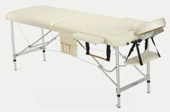 Мебель для салонов красоты  Массажный стол AAF 2-х сегментный складной (алюминий), цвет бежевый