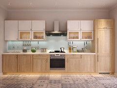 Кухня Кухня на заказ Драўляная майстэрня из массива ясеня, двухцветная