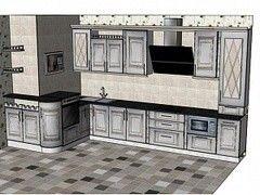 Кухня Кухня ЗОВ Массив ясеня (вариант 3)